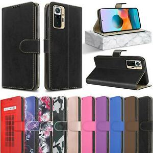 For Xiaomi Redmi Note 10 5G Case, Slim Leather Wallet Flip Stand Phone Cover
