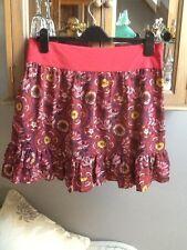 Next multi printed short flippy frilly skirt UK 12