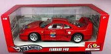 Hot Wheels 60th Anniversary Ferrari F40 Hard Top 2957 1:18 Red