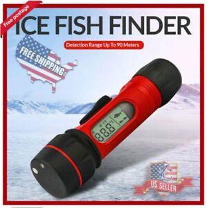 F12 Winter Fishing Fish Finder 0.8-90m Lure Lamp Digital Waterproof 100m Depth