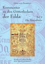 Kommentar Zu Den Gotterliedern der Edda by Geza Von Nemenyi (2014, Paperback)