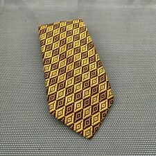 Vintage Yellow and Brown Tie