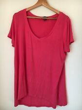 Atmosphere Pink Size 18 Viscose Mix T-shirt <T9987