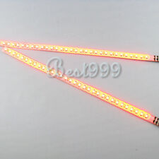 2x Amber/Yellow 30cm 32 Leds 3528 SMD LED Strip Light Flash Waterproof 12V JUK
