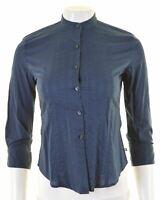 POLO RALPH LAUREN Womens Shirt 3/4 Sleeve Size 6 XS Blue Cotton  ES06