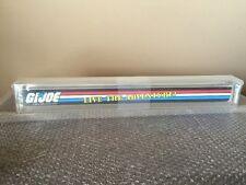 Vintage 1987 Hasbro GI JOE Shelf Talker Store Display Live The Adventure AFA 85+