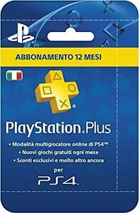 PlayStation Plus (PSN) Abbonamento 12 Mesi - PlayStation 4