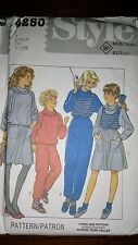 Style 4250 girl pullover, vest, skirt, trousers vintage 1984 size 7,8, 10