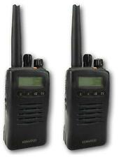 KENWOOD TK3140 UHF 4 WATT WALKIE-TALKIE TWO WAY RADIOS & COVERT EARPIECES x 2
