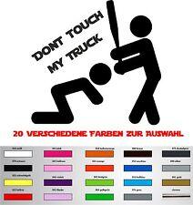 Dont Touch my Truck Aufkleber DUB OEM Shocker JMD LKW Sticker Transporter
