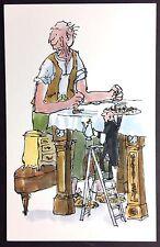 POSTCARD Roald Dahl BFG Tea CLOCKS Table FRIENDLY GIANT Quentin Blake NEW R004