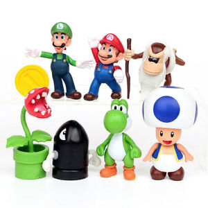 Figurine Mario: Mario, Toad, Yoshi, Luigi, Bombe, Plante ~ 7cm