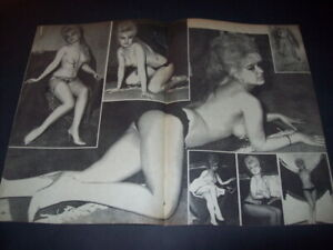 BELLY DANCER Sexy - SEVIL SEV-MYLENE DEMONGEOT Turkish Magazine CENTERFOLD 70001