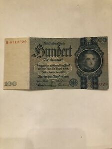 Germany 100 Reichsmark 1935 P-183 World War 2 Circulated