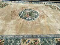 12' x 18' Chinese Art Deco Peking Oriental Rug - Full Pile - Hand Made 100% Wool