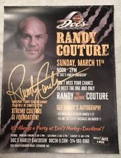 """Randy Couture Autographed SIgned UFC MMA Promo Harley Davidson Picture 8 1/2x11"""""""