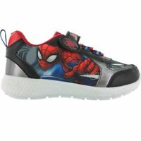BOYS NEW OFFICIAL SPIDERMAN TRAINERS MARVEL TOUCH FASTENING PUMPS SHOES SIZE 8-2