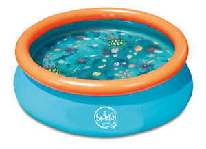 Inflatable Paddling Pool, 3.05m x 0.76m with 3D pattern and 3D goggles!