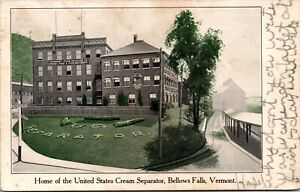 Postcard Home of the United States Cream Separator Bellows Falls, Vermont~135284