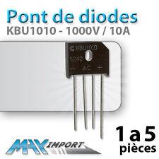 Pont de diode KBU1010 (Diode Bridge rectifier) - Lots multiples, prix dégressif