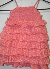 r- CLOTHES BABY/TODDLER SZ 2T DRESS TRENDY AND SWEET RUFFLED STRAP SLEEVES