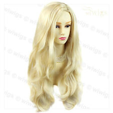 Wiwigs Fabulous Light Blonde Long Wavy Layered Skin Top Ladies Wig