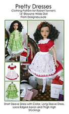 Pretty Dresses Doll Clothes Sewing Pattern Ellowyne Wilde Tonner