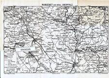 Naab Oberpfalz 1919 Karte + Wanderführer (16 S) Reuth Kemnath Windischeschenbach