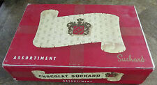 Ancien et Rare Coffret Carton Chocolat  SUCHARD Année 1950