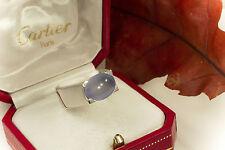 Schmuck Cartier Chalzedon Ring 1999 750er Weißgold 18 Karat Chalcedony OVP