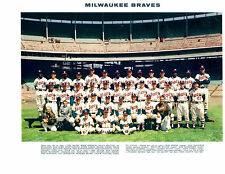 1960 MILWAUKEE BRAVES 8X10 TEAM PHOTO WISCONSIN AARON SPAHN BASEBALL HOF MLB USA