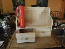 Cook Book Recipe Display Rack Counter Top Shelf Recipe Drawers Country Primitive