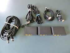 Genuine OEM ( 3 ) HTC 2PU6100 VR VIVE Link Boxes Supply w/ 3 in 1 Cable ( Lot )