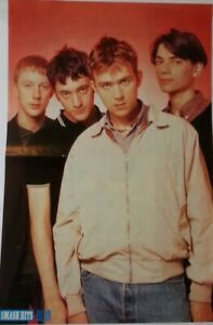 BLUR 'youthful' Smash Hits magazine PHOTO/Poster/clipping 11x8 inches