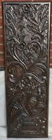 SHABBY CHIC WOODEN WALL HANGING PANEL FLOWER VASE CARVED 100% REAL MANGO WOOD