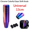 13CM Universal Car Auto Aluminum Gear Shifter Shift Knob For Manual Neo Chrome