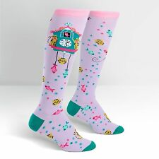 Cat Lover! Cat O' Clock on Women's Knee High Socks by Sock It To Me
