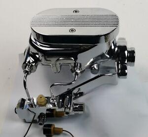 Aluminum Chrome Flat Top Master Cylinder & Proportioning Valve Kit, Disc/Drum