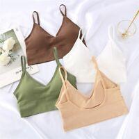 Fashion Women Seamless Underwear Padded Tank Crop Top Vest Bra Bralette Lingerie