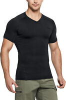 TSLA Men's Tactical Short Sleeve Compression Shirts, Athletic Workout Shirt