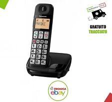 Panasonic Telefono Cordless DECT Vivavoce Tasti grandi per Anziani KX-TGE110JTB