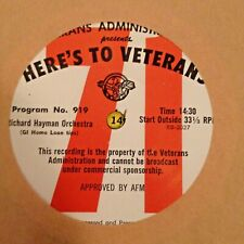 RADIO SHOW: HERE'S TO VETERANS 918 TENNESSEE ERNIE FORD & 919 RICHARD HAYMAN