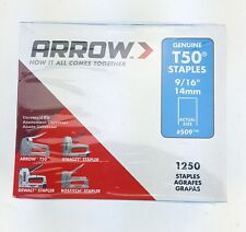 "5000 T50 9/16"" STAPLES 4 BOXES PACK 1250 EACH GENUINE ARROW STAPLE"