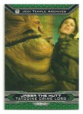 Topps Star Wars Chrome Jedi vs Sith Prism Refractor 35-J Jabba the Hut #158/199