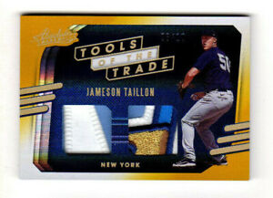 2021 PANINI ABSOLUTE JAMESON TAILLON YANKEES TOOLS TRADE DUAL PATCH GOLD 6/10