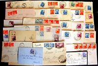Repubblica -Storia Postale - Democratica - Lotto da 30  buste del settore - 5