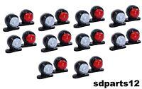 20 X 12V 24V Rouge Blanc Petit LED Feux de Gabarit Camion Caravane Remorques
