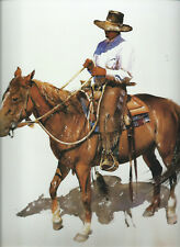Western Art -- Cowboy Riding Horse, Chaps-- 10 1/2 x 12 Full Color Print