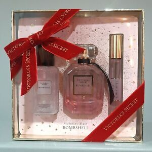 NEW Victoria's Secret BOMBSHELL Luxe Gift Set Box Shimmer Mist Perfume 1.7 oz