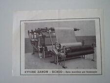 advertising Pubblicità 1947 MACCHINE PER FINISSAGGIO ETTORE ZANON - SCHIO